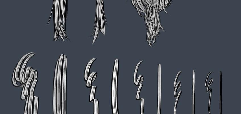 클립 스튜디오 브러시 05 (머리카락)
